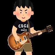 ロック少年・ギター少年のイラスト