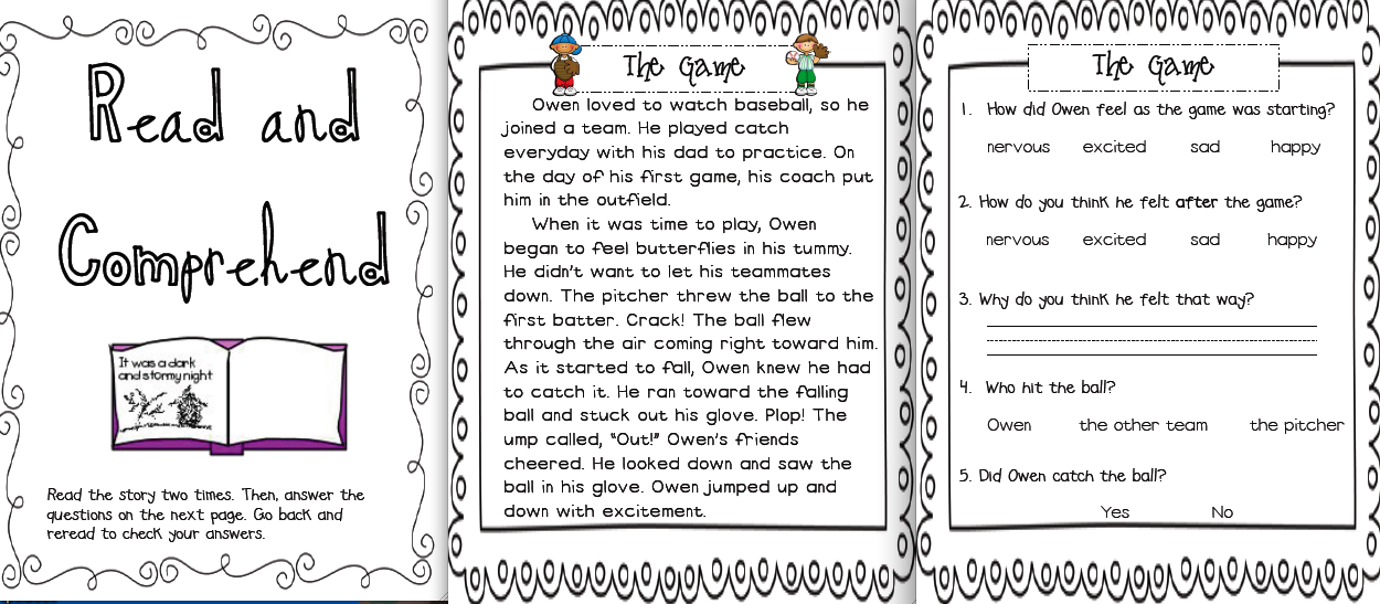 Worksheets Read The Passage sarahs first grade snippets may literacy menu posted read and comprehend students the passage answer questions