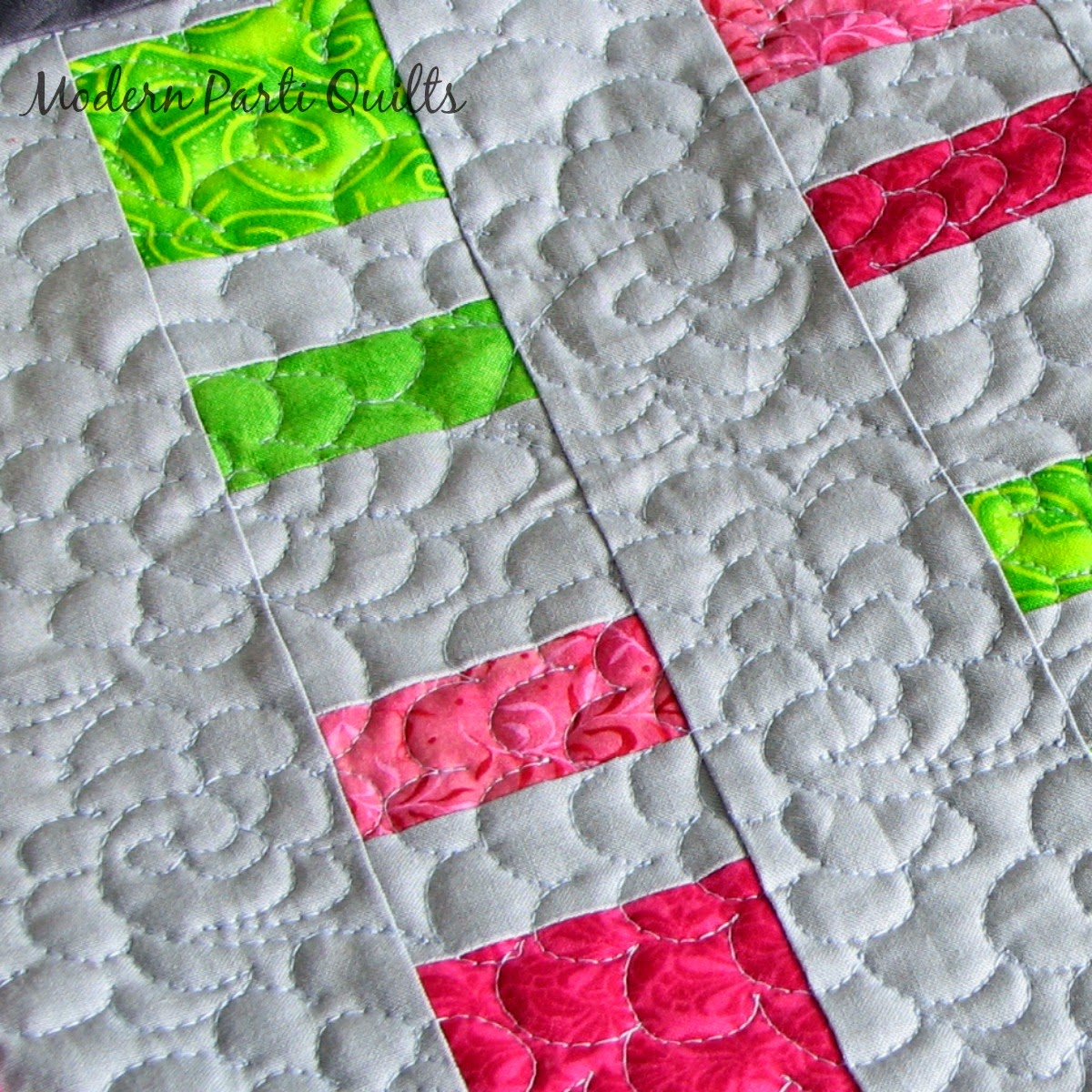 Modern Parti Quilts: Free Motion Quilting