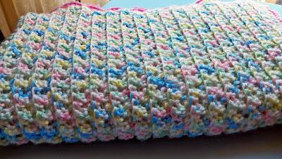 Crochet Side to Side Scarf - Crochet Red Heart Pattern