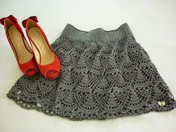 Falda linda crochet con patrón