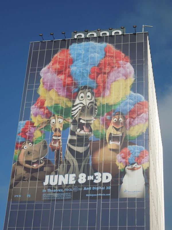 Giant Madagascar 3 movie billboard
