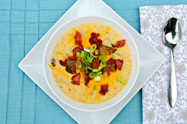 Fully Loaded Baked Potato Soup