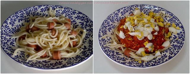 receta espaguettis pasta para niños araña halloween comida rubibeauty