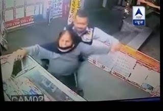 man hits elderly couple in Chandigarh