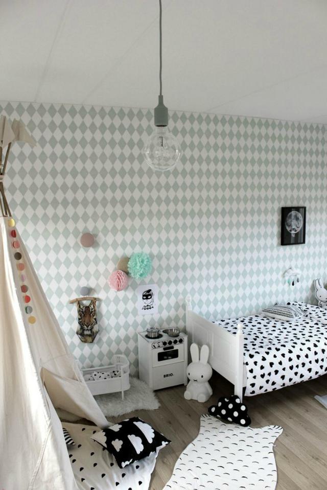 Habitaci n infantil mint the little club la garbatella for Habitacion infantil estilo nordico