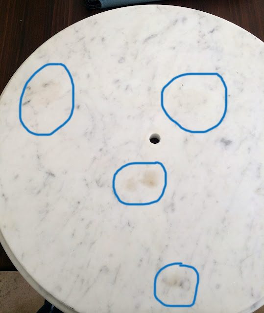 Marble Top Cleaners : The impatient gardener how to salvage a stained marble