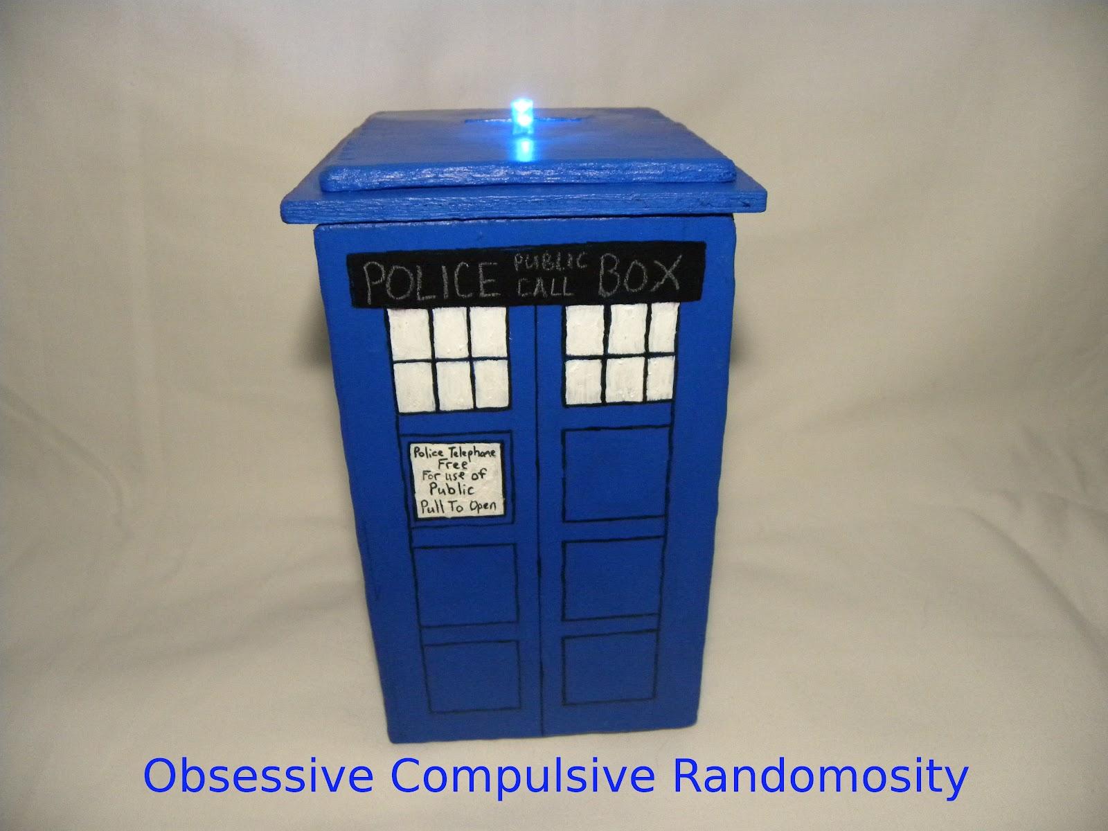 Obsessive compulsive randomosity tardis coin bank - Tardis piggy bank ...