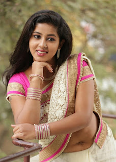 Pavani Reddy in Beautiful Saree and Pink Blouse Stunning Beauty