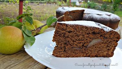 torta al cioccolato fondente, ricotta e pere gluten free