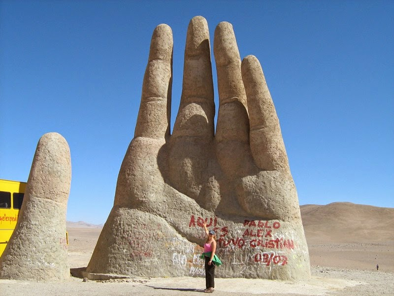 The Mano de Desierto | Sculpture of a Giant Hand located in the Atacama Desert, Chile