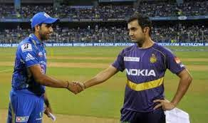 ROHIT SHARMA< GAUTAM GAMBHIR, KKR, MI, IPL2015