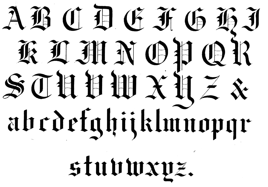 Gothic handwriting hand writing