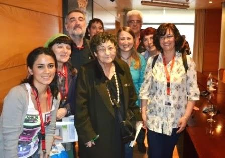 Junto a la poeta Francisca Aguirre, la mejor experiencia del año 2013