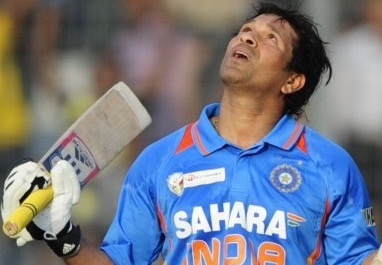 Sachin Tendulkar scores his 100th international century