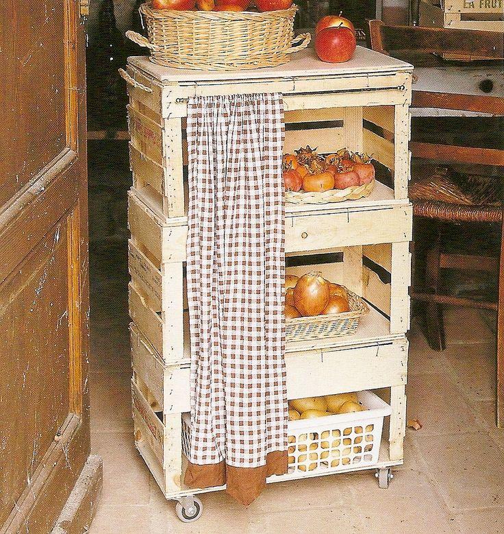 Silmara freitas fruteira feito de caixote de feira - Cajas de fruta recicladas ...