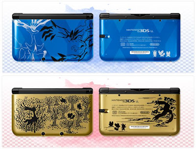 New 3DS LL Xerneas Yveltal Blue Premium Gold Nintendo PokeCenJP
