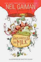 bookcover of FORTUNATELY, THE MILK  by Neil Gaiman