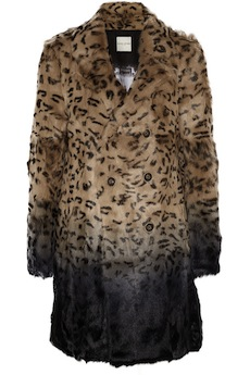 EACH X OTHER Leopard-print ombré goat hair coat