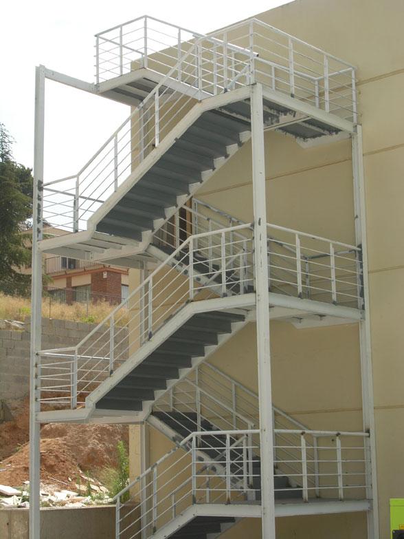Seguridad e higiene laboral for Escaleras de exterior metalicas