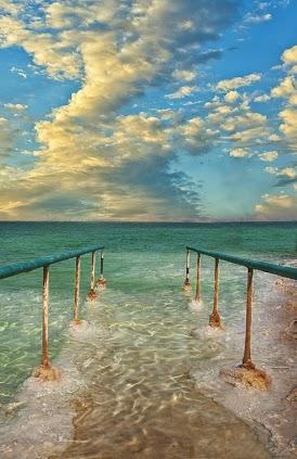 Bela Fotografia do Mar Morto