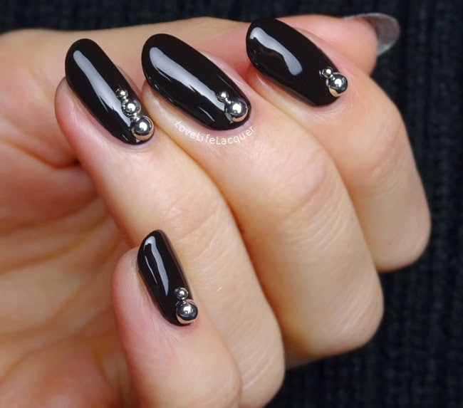 Love life lacquer classy black nails born pretty store studs classy black nails born pretty store studs review nail art prinsesfo Image collections