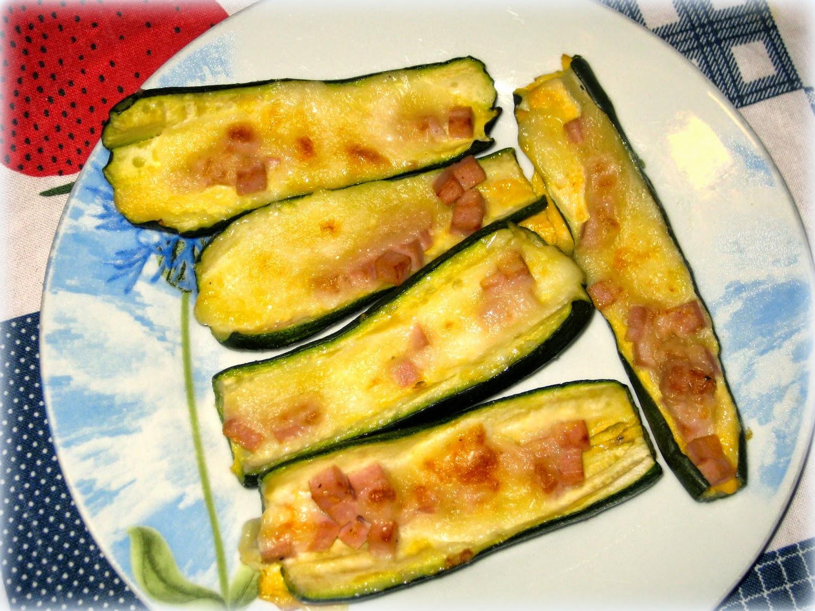 zucchine ripiene di prosciutto e formaggio