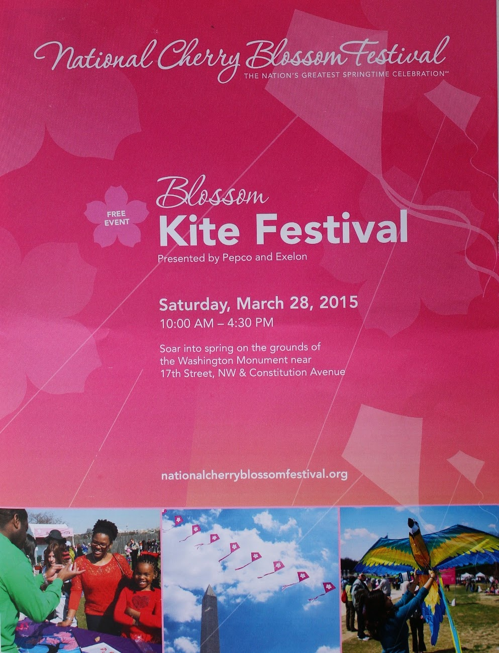Kite Festival brochure at the National Mall