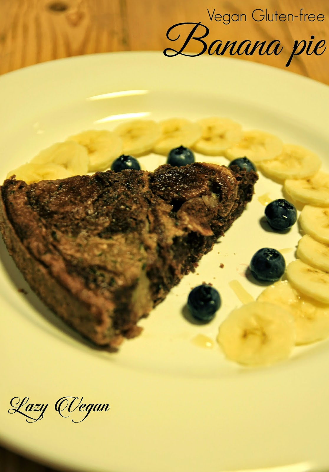 Banana, Pie, Dessert, Sweets, Chocolate, Cacao, Cocoa, Gluten-free, Lazy vegan recipes