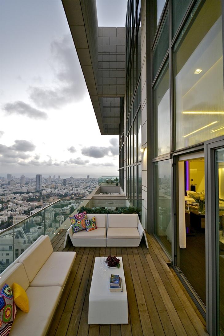 White terrace furniture
