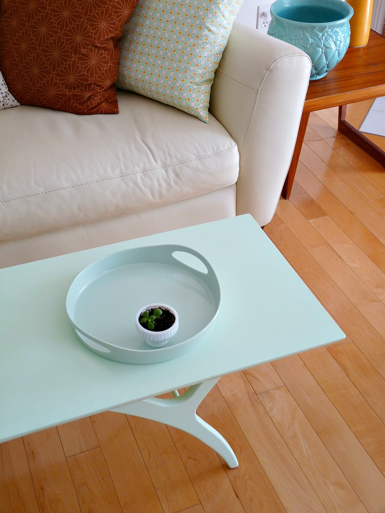 Mint mid-century coffee table