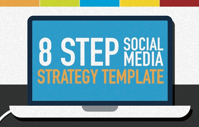 Step Social Media Marketing Strategy Template Infographic - Facebook media plan template