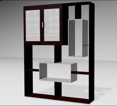 Librero y cantina bar dise o de muebles en madera mdf for Disenos de bar de madera