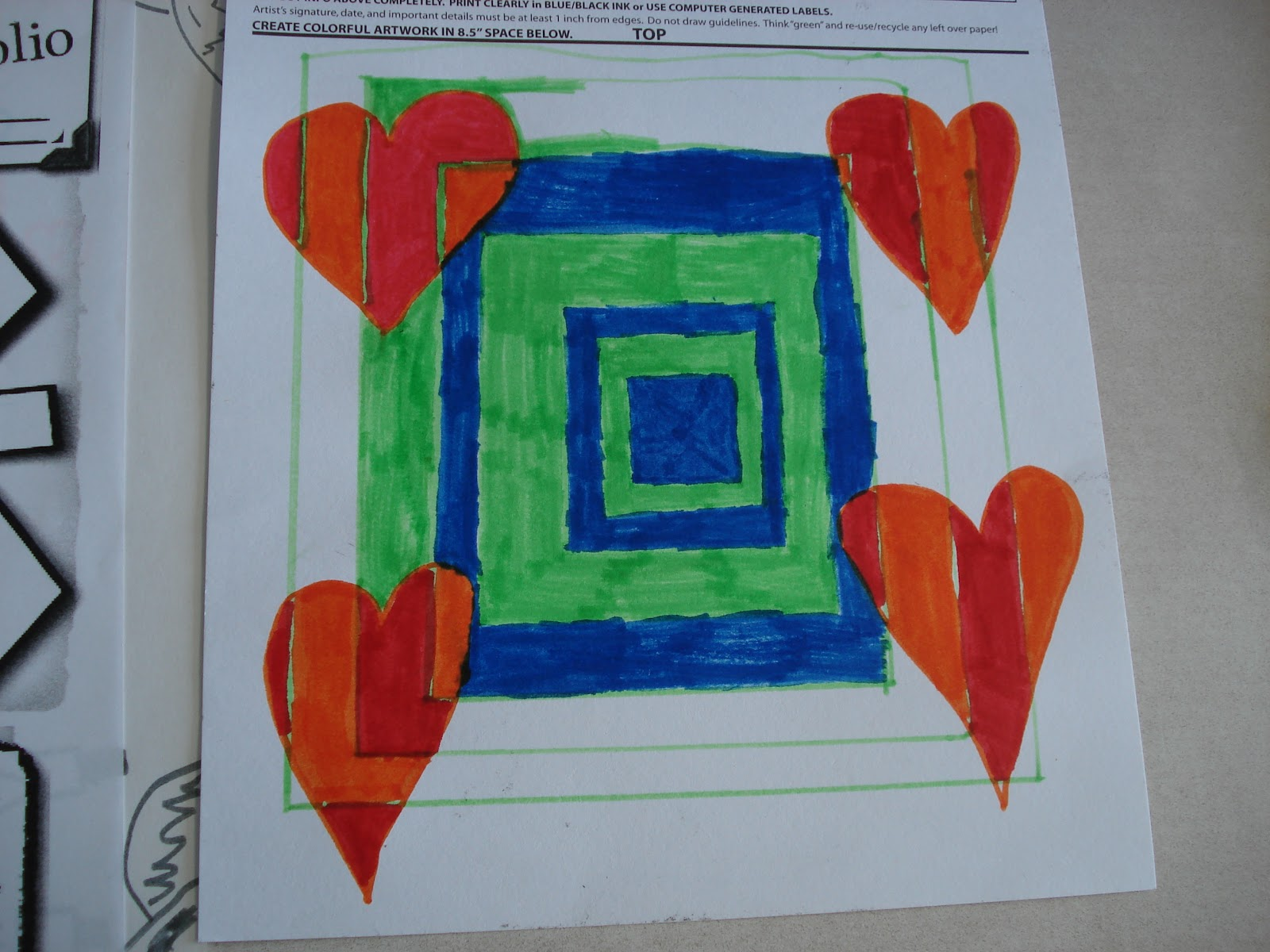 Op art uses color to create - After Discussing Line Shape Pattern And Color Theory Students Got To Work On These Eye Crossing Works Of Art