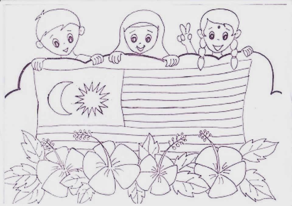 Coloring hari kemerdekaan 1 Malaysia
