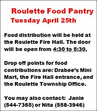 4-25 Roulette Food Pantry
