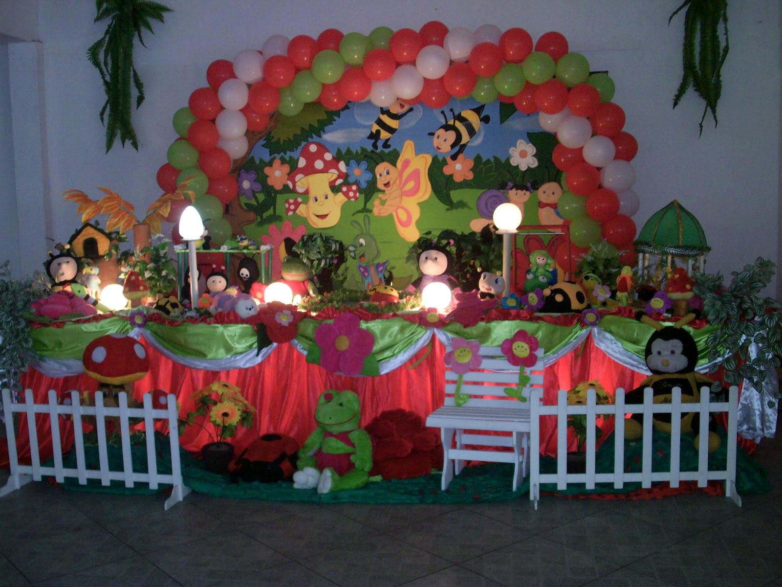 decoração de festa do tema Jardim encantado  aniversário infantil