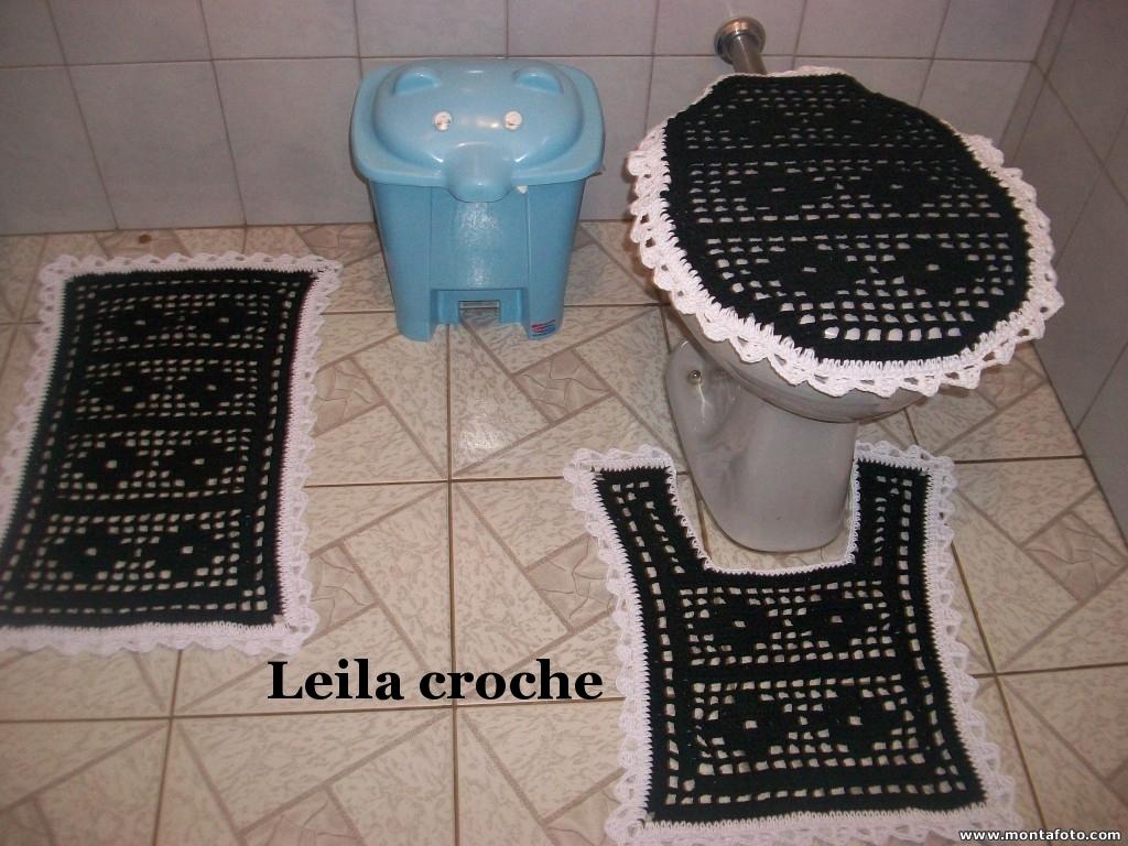 Leila Crochê jogo de banheiro do simples ao sofisticado -> Jogo De Banheiro Simples Croche