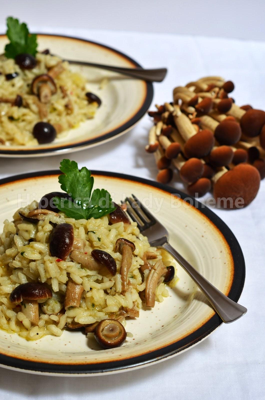 hiperica_lady_boheme_blog_cucina_ricette_gustose_facili_veloci_risotto_con_funghi_pioppini_2