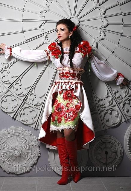 Вбрання у стилі етно модерн від модного дизайнера Оксани Полонець, Україна