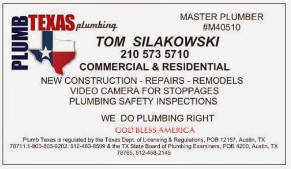 PLUMB TEXAS plumbing
