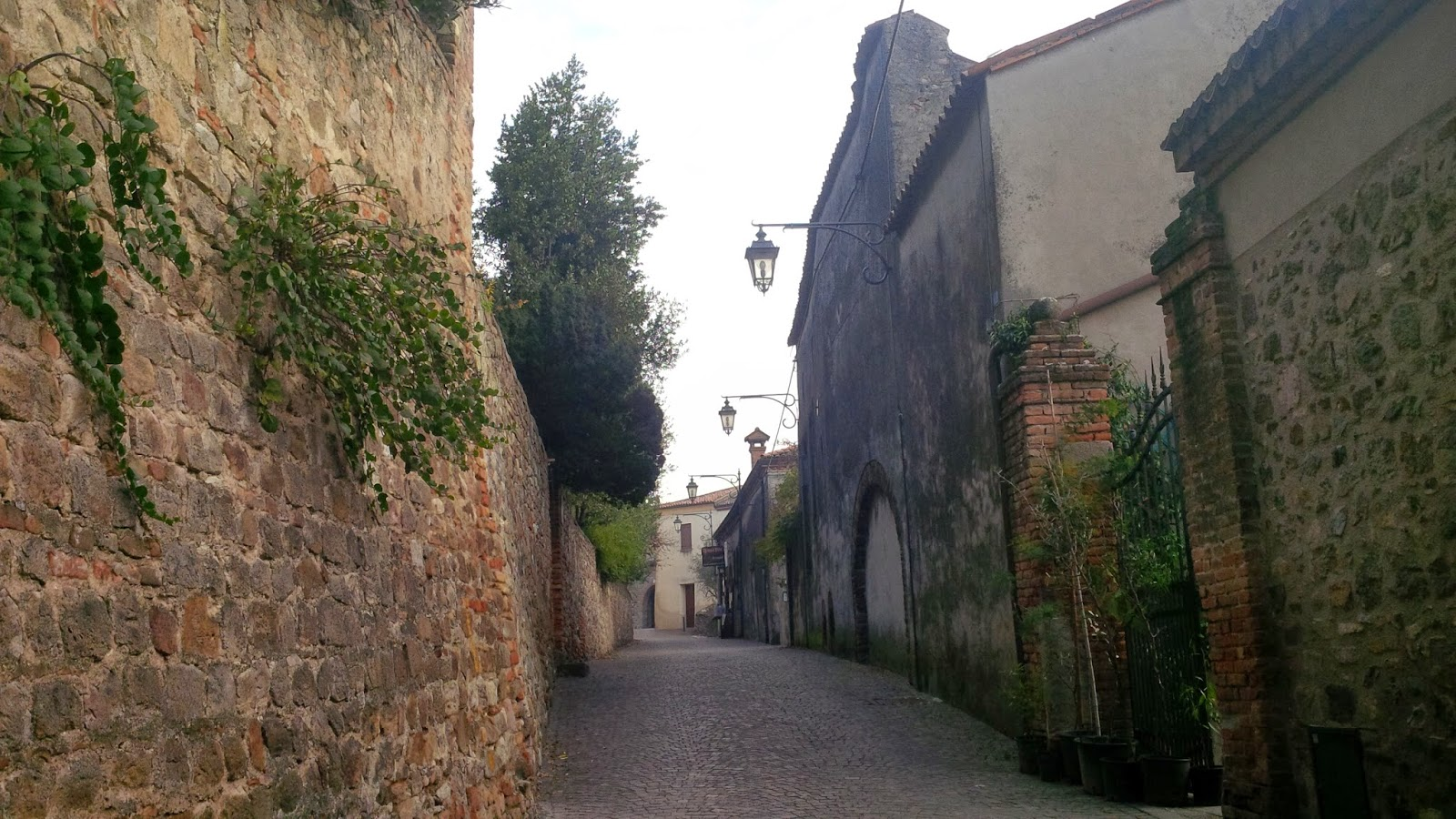 The street leading to Petrarch's house in Arqua Petrarca