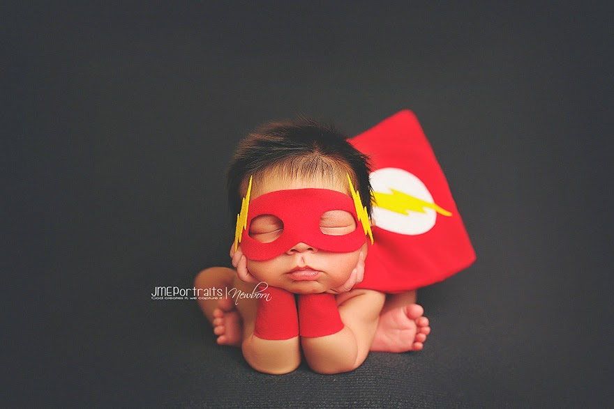 #8 Baby Flash - 22 Geeky Newborns Who Are Following In Their Parents' Nerdy Footsteps