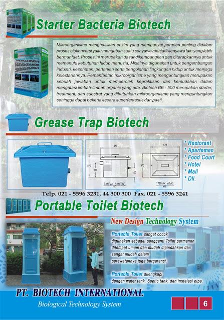 oil trap fibreglass, septic tank biotech, bubuk bakteri pengurai tinja, portable toilet fibreglass