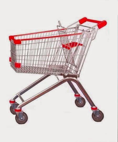 Xe đẩy siêu thị inox giá rẻ