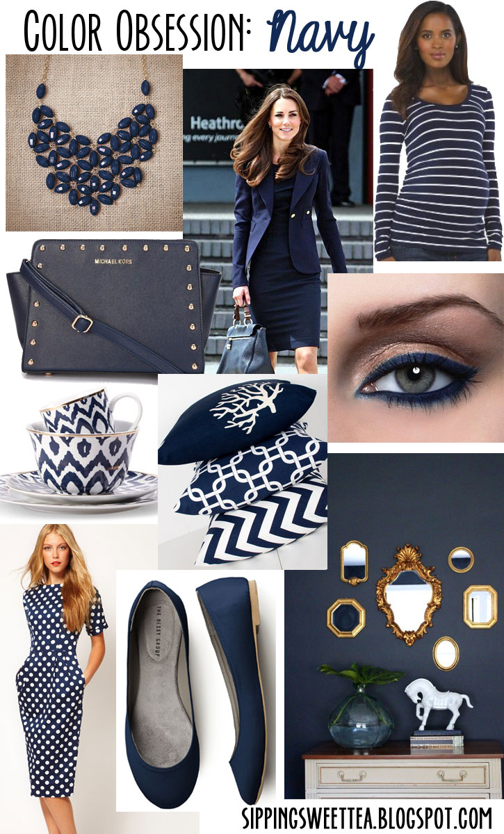 navy, shopping, color, color obsession, fall color, navy collage