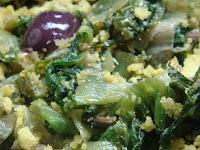 Farofa de Escarola com Azeitonas Pretas (vegana)