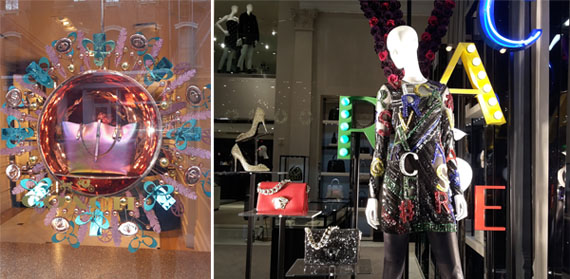 Escaparate Versace y Marc Jacobs Nueva York 2015