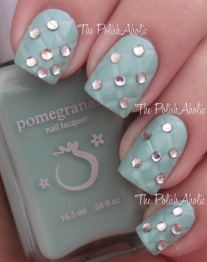 The Polishaholic Cellairis Nail Art Series 1 Studded Quilting
