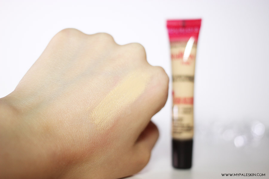 bourjois healthy mix concealer, review, swatch, pale skin, my pale skin, best